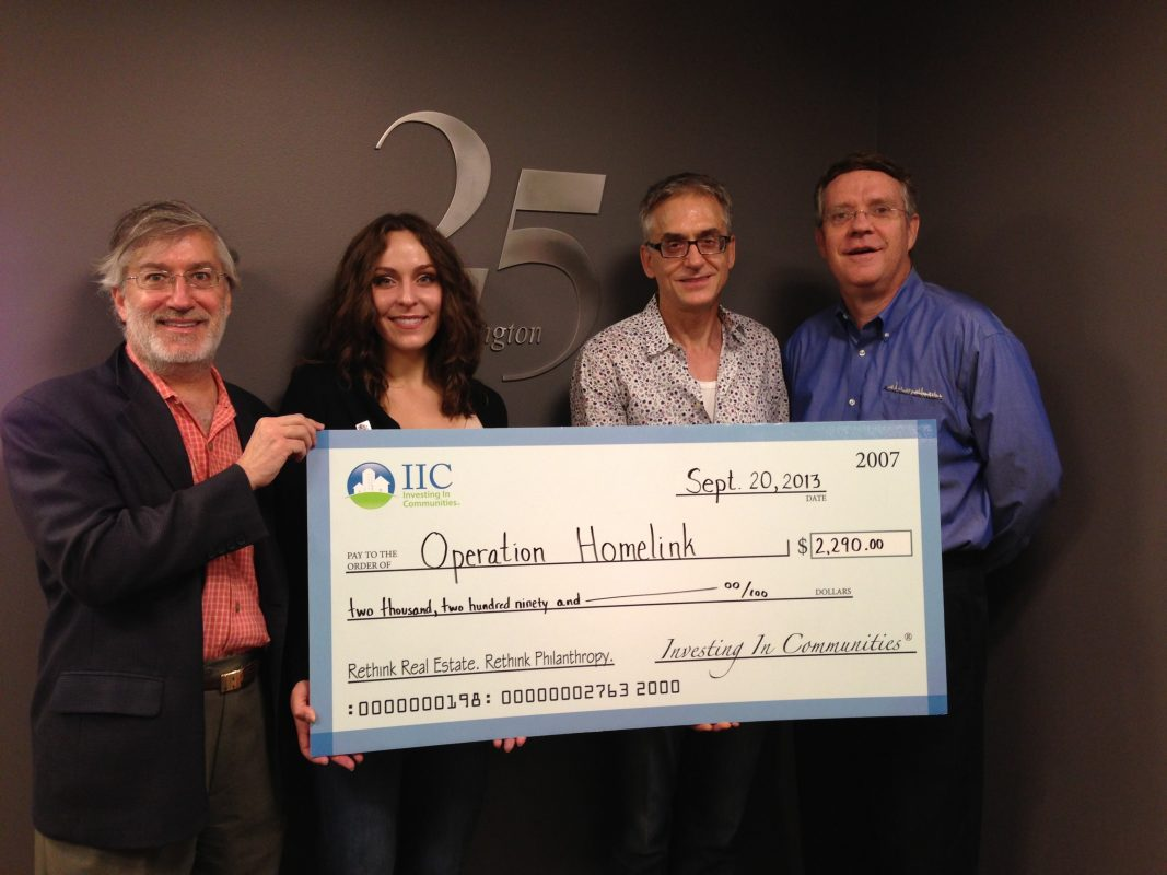 IIC Big Check to Operation Homelink