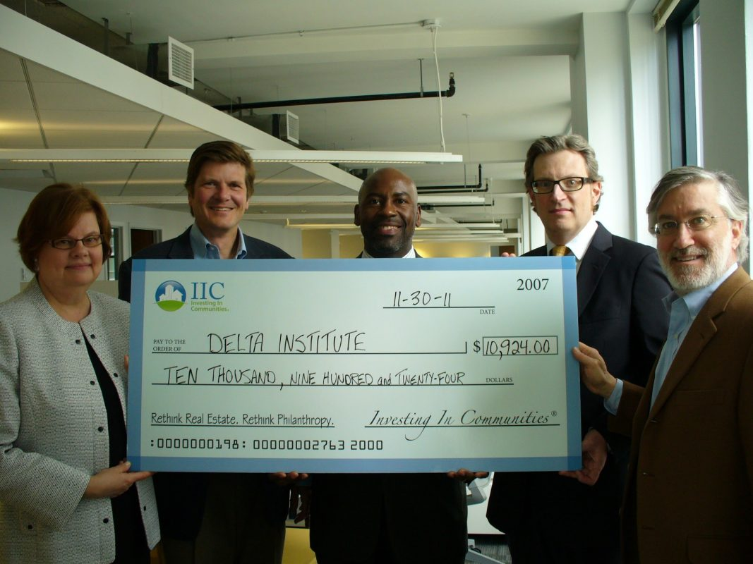 IIC Big Check for Delta Institute