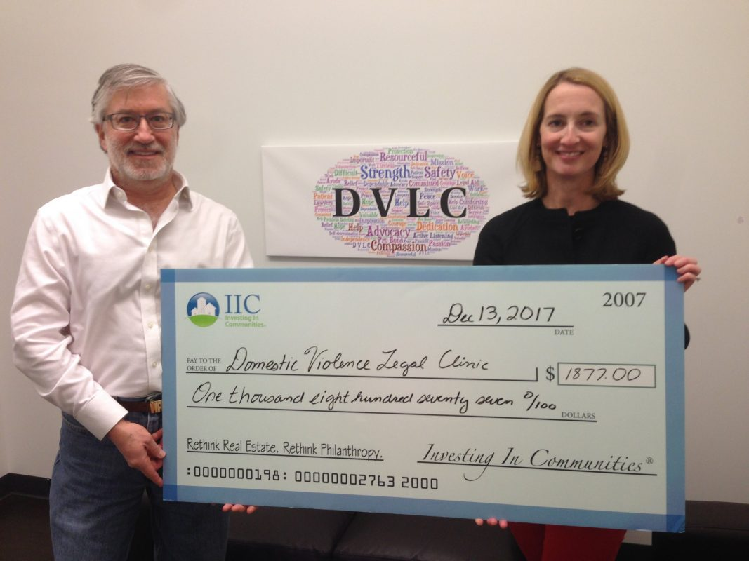 IIC Big Check to DVLC