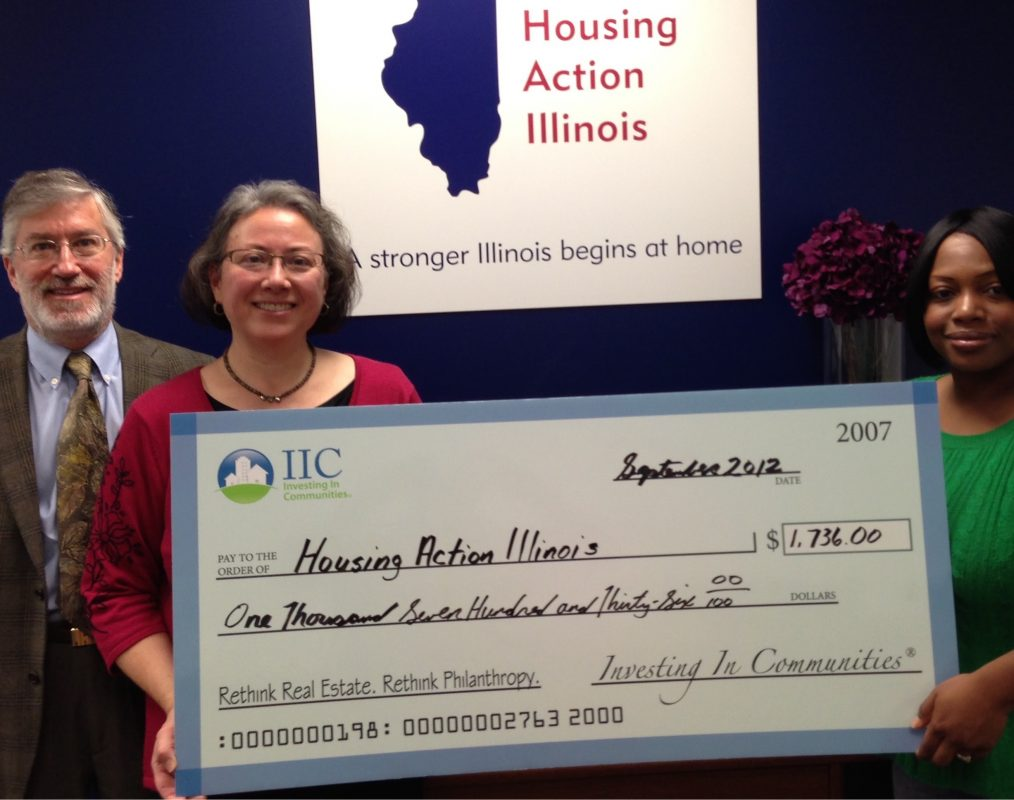 IIC Big Check to Housing Action Illinois