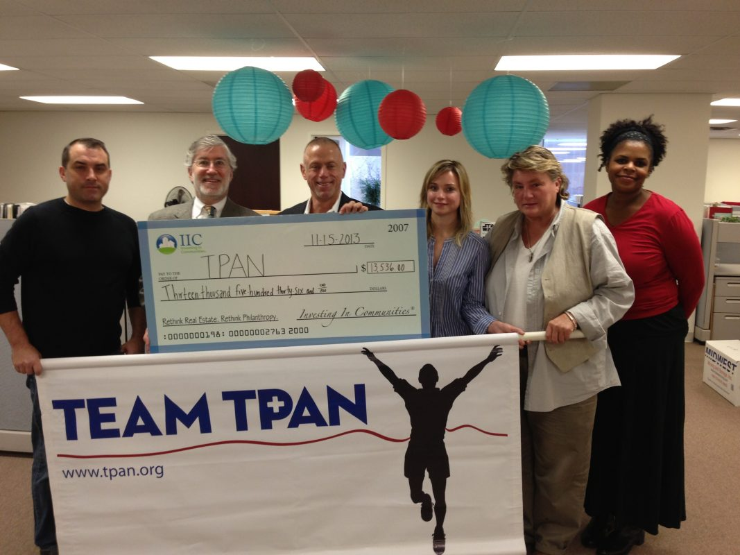 IIC Big Check to TPAN